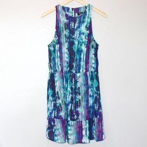 Mossimo Tie Dye Blue Tank Top Peep Back Dress